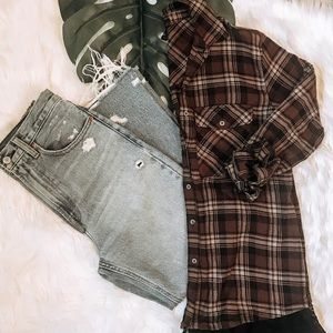 Flannel with lace detail